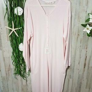 Victoria's Secret Pink One Piece Thermal Pajamas